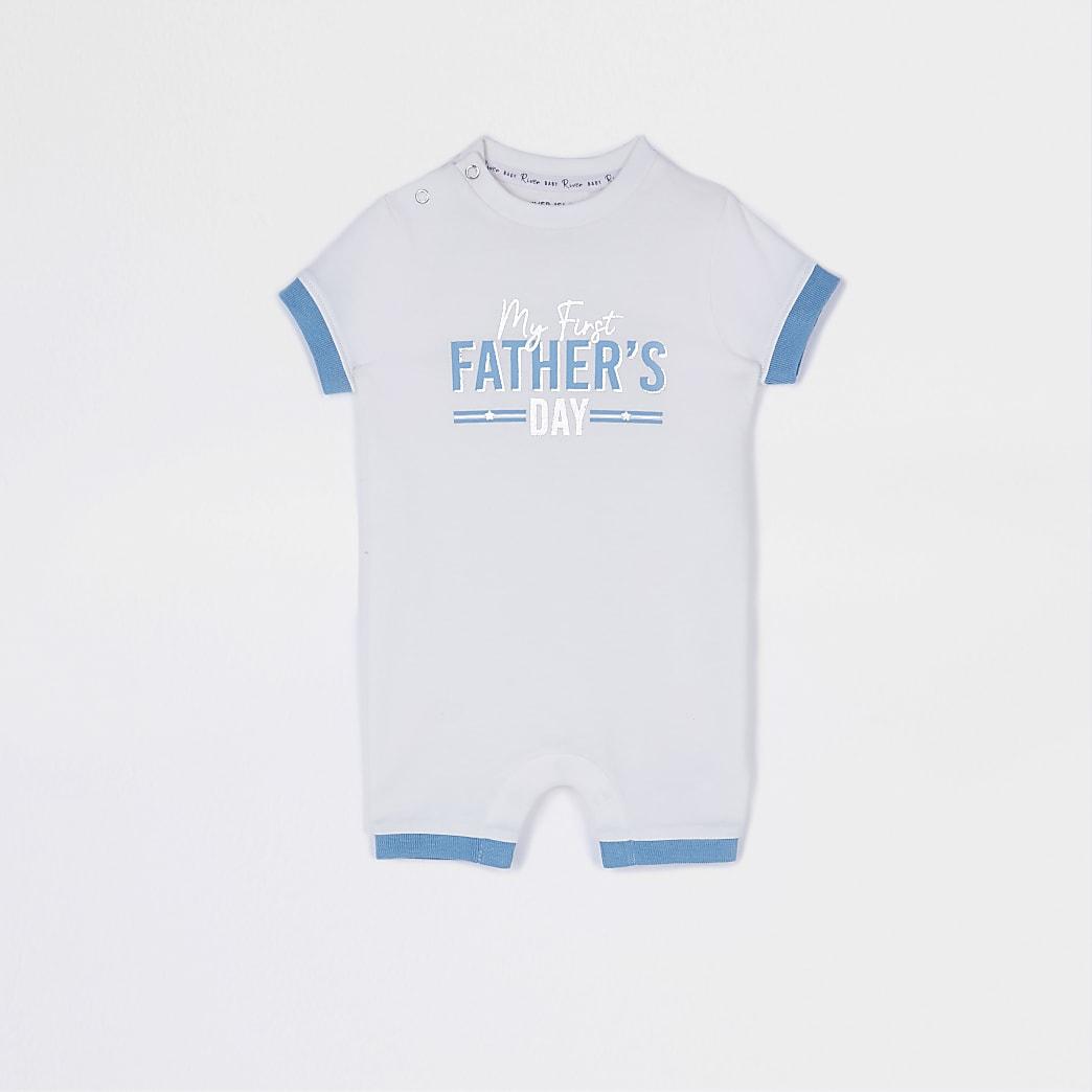 Baby cream 'Fathers Day' romper