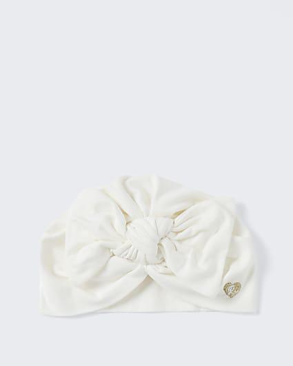 Baby cream jersey turban