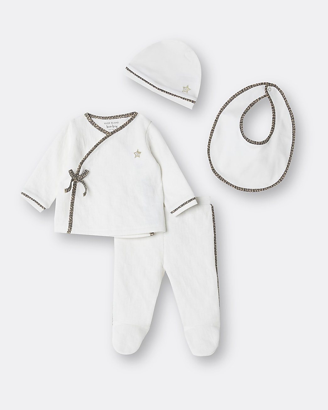 Baby cream kimono 4 piece outfit