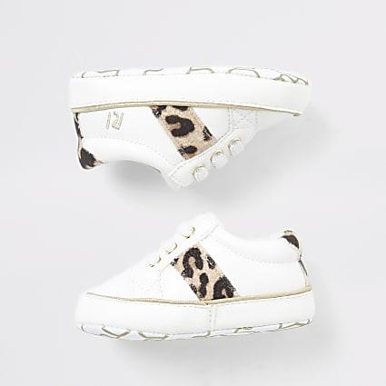 Baby cream leopard trainer