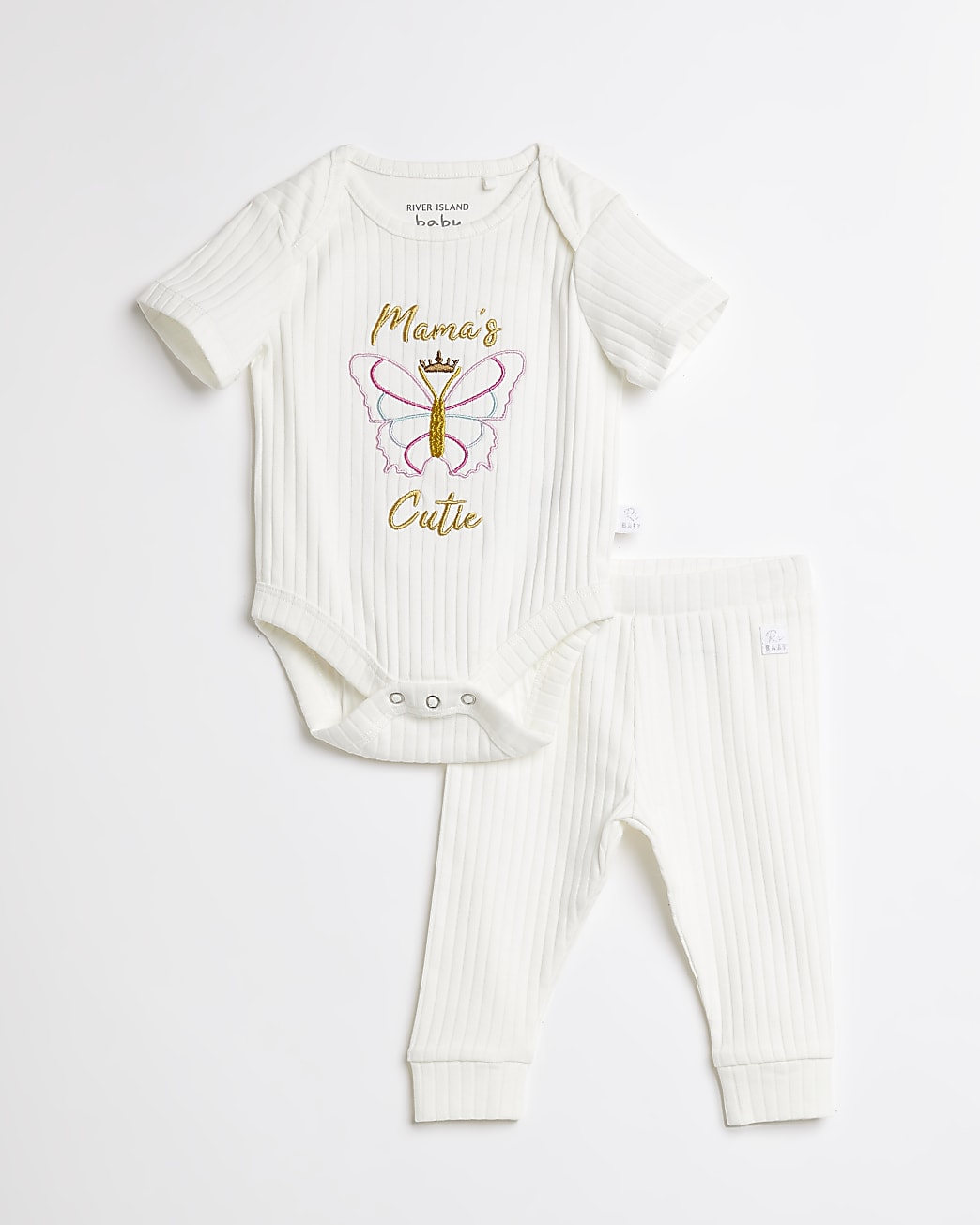 Baby cream 'Mamas Cutie' butterfly outfit