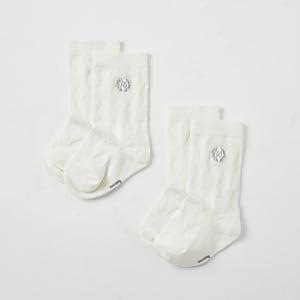 RI – Kniehohe Socken in Creme
