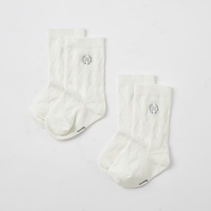 Baby cream RI knee high socks
