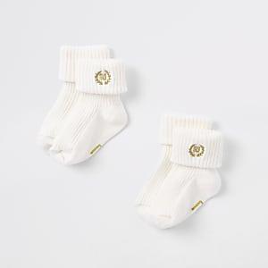 Lot de paires de chaussettes RI crème pour bébé