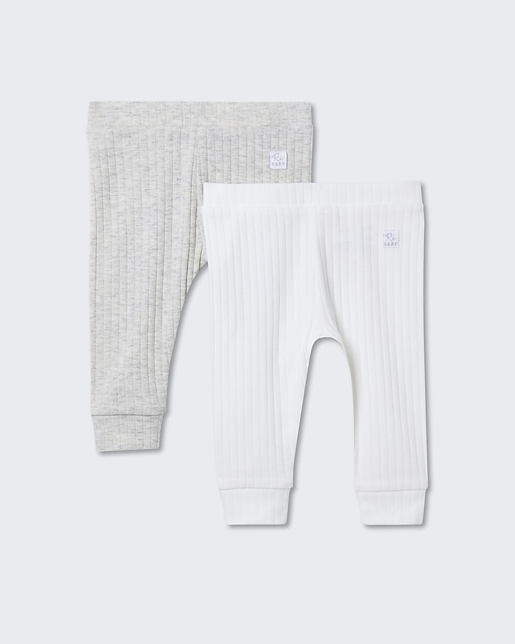 Baby cream ribbed leggings 2 pack