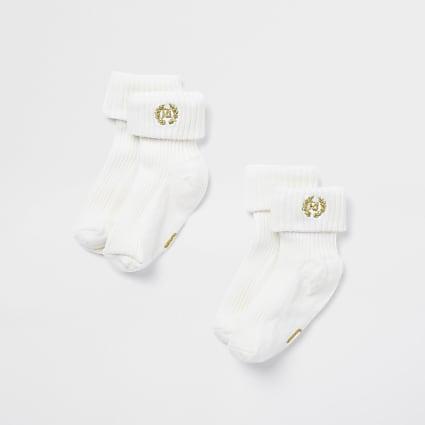 Baby cream socks 2 pack