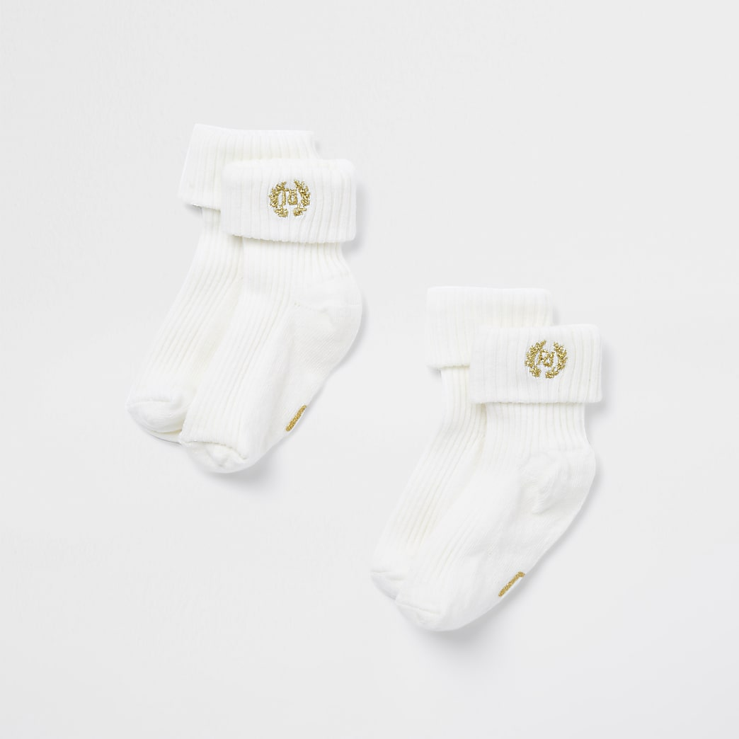 Baby cream socks 2 pack