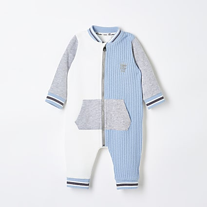 Baby ecru colour block all in one