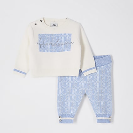 Baby ecru monogram jumper outfit