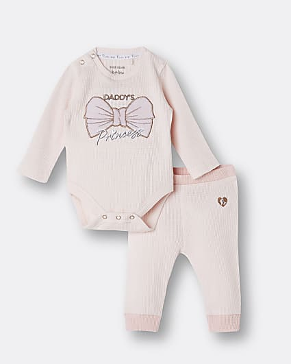 Baby girls 'daddy's girl' waffle outfit