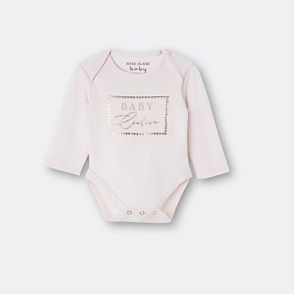 Baby girls pink 'Baby Couture' babygrow
