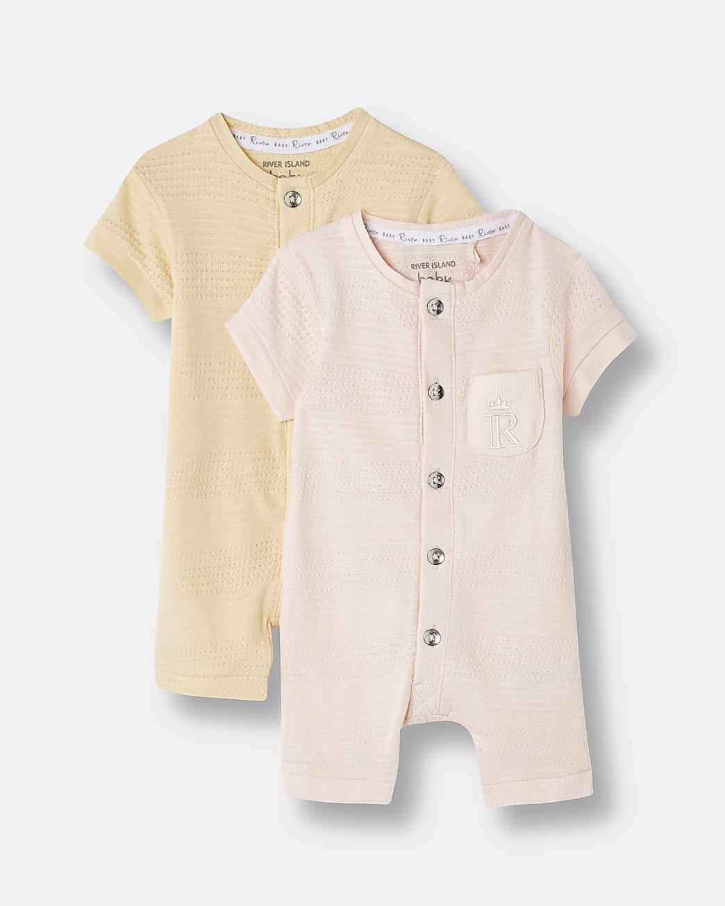 Baby girls pink Organic rompers 2 pack