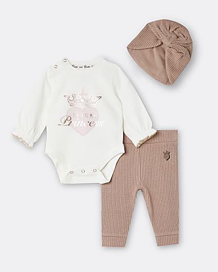 Baby girls pink 'Princess' babygrow outfit