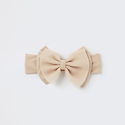Baby girls stone organza bow headband