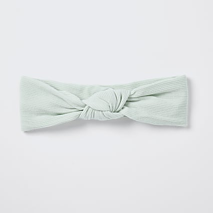 Baby green knot headband