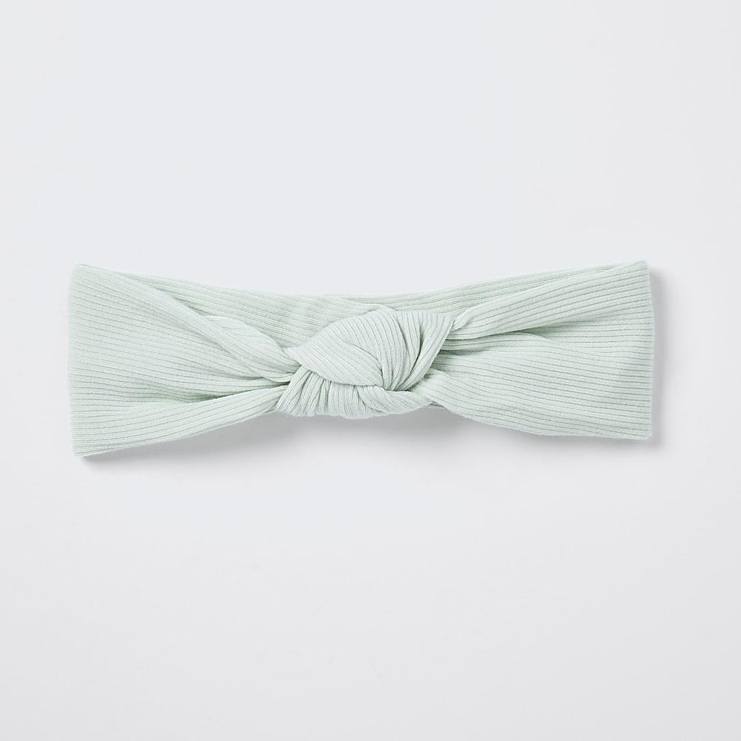 Baby green knot headband