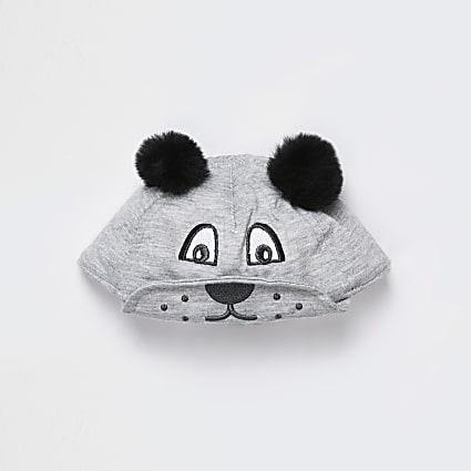 Baby grey bear cap