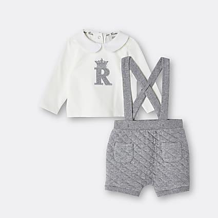 Baby grey RI bloomer 2 piece set