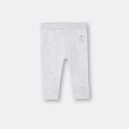 Baby grey RI embroidered leggings