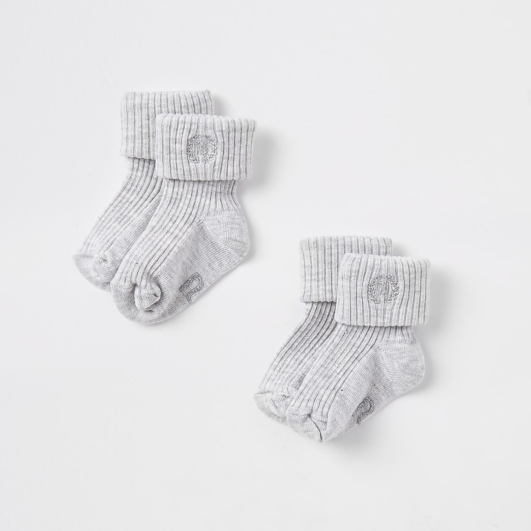 Baby grey RI socks 2 pack