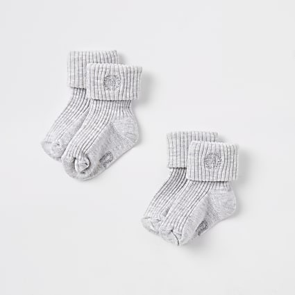 Baby grey RI socks multipack