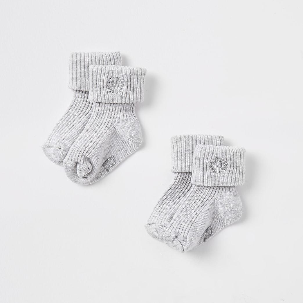Baby grey RI socks multipack