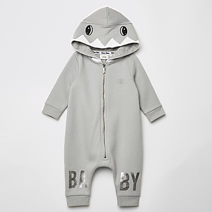 Baby grey shark all in one
