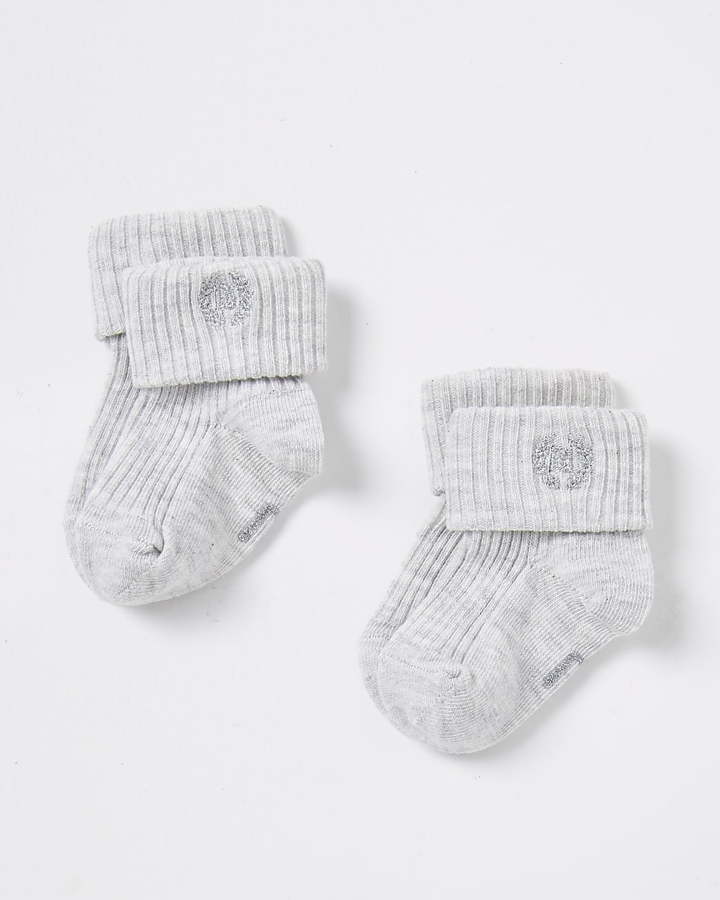 Baby grey socks 2 pack