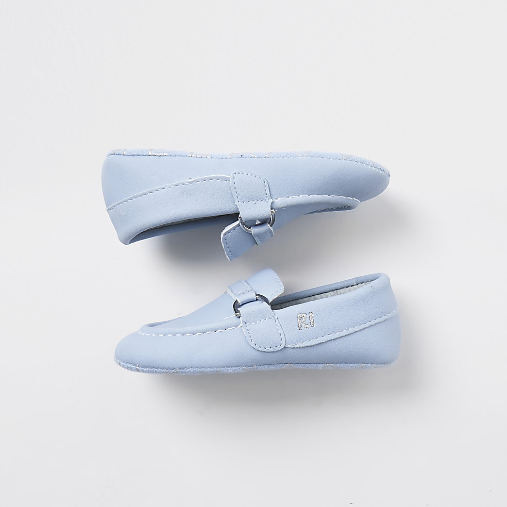 Baby light blue loafers