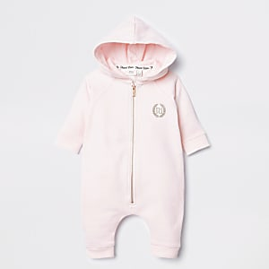 Baby pink angel wings baby grow