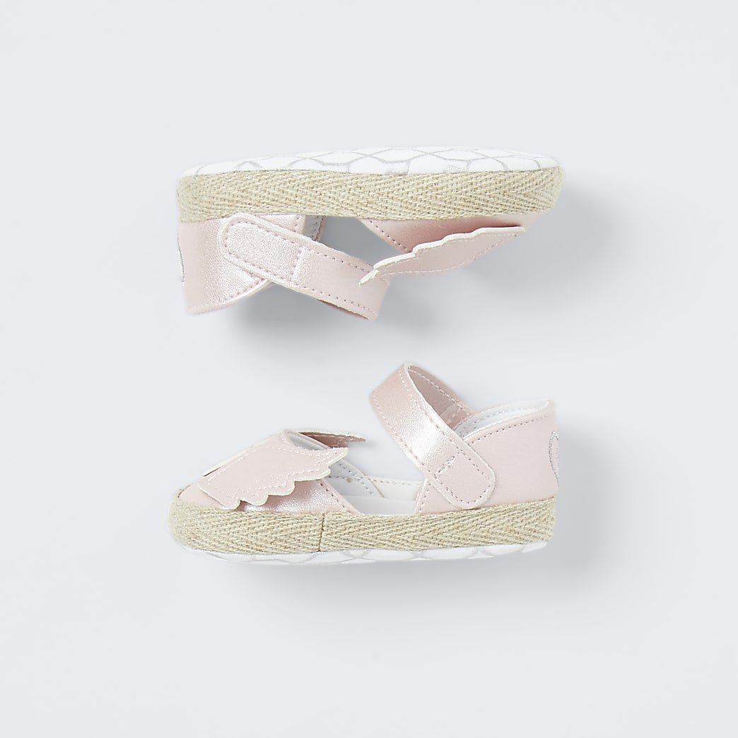 Baby pink angel wings sandals