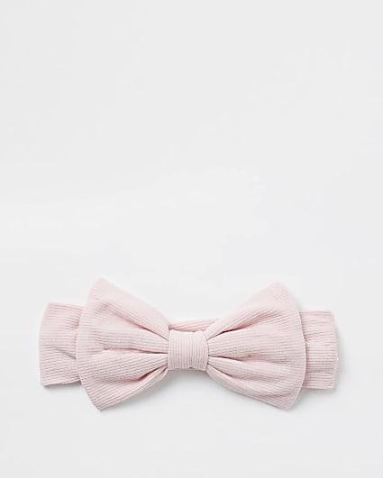 Baby pink bow headband