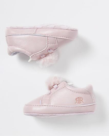 Baby Pink bunny pom pom sneakers