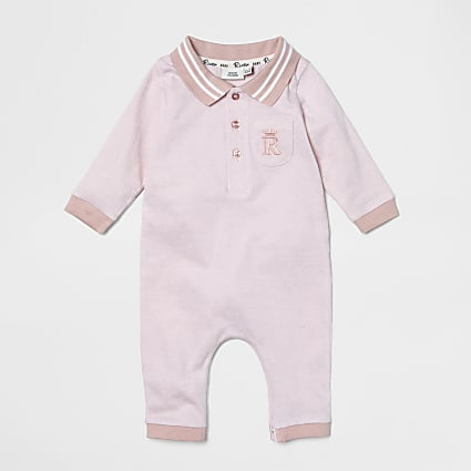 Baby pink collar all in one