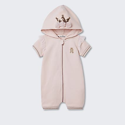 Baby pink crown RI bodysuit
