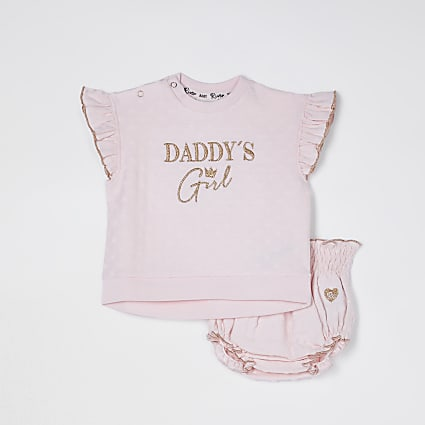 Baby pink 'Daddy's girl' bloomer set