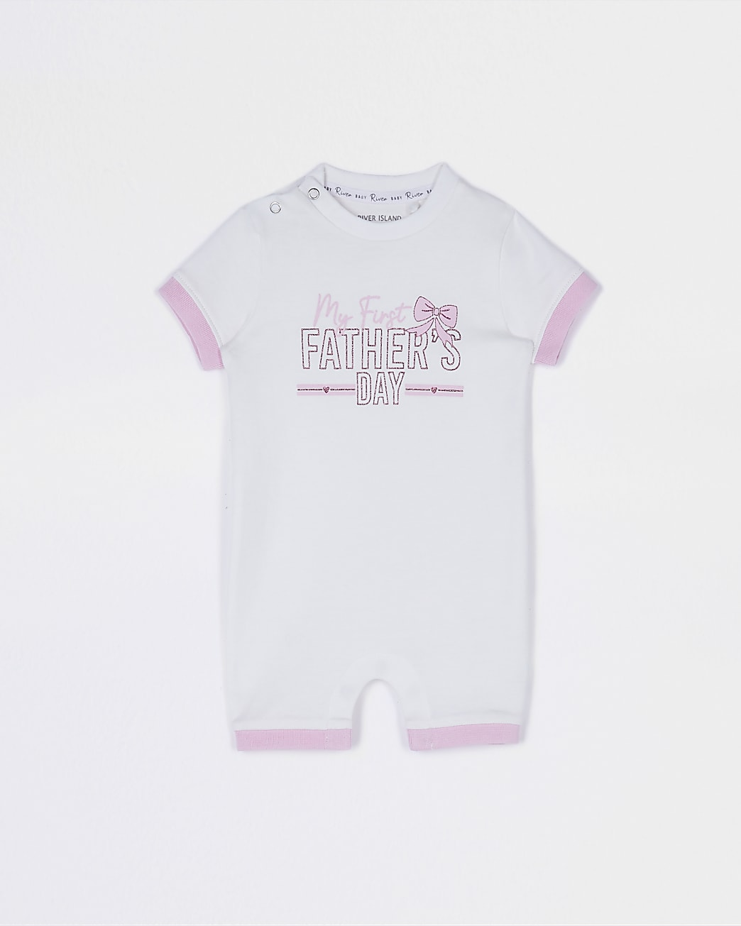 Baby pink 'Fathers Day' romper