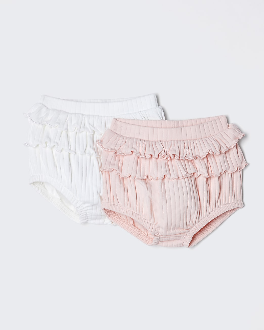 Baby pink frill bloomer 2 pack
