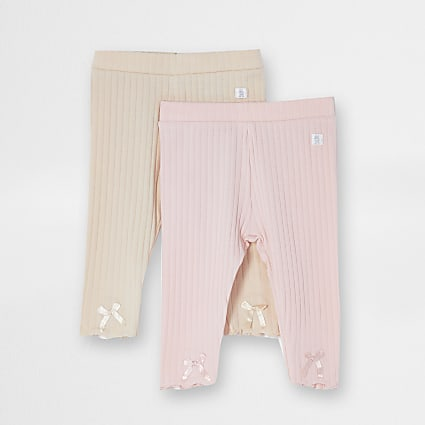 Baby pink leggings 2 pack