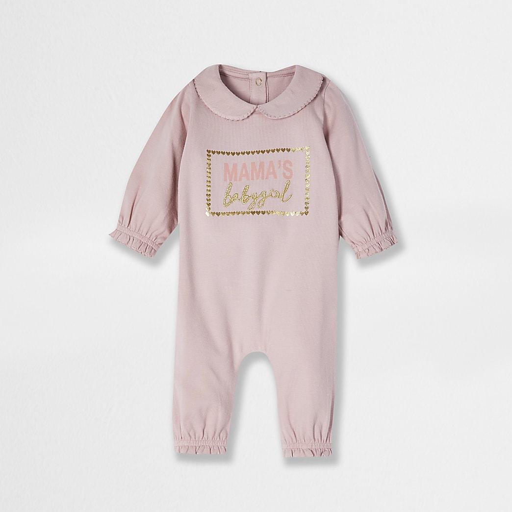 Baby pink 'Mamas' baby grow