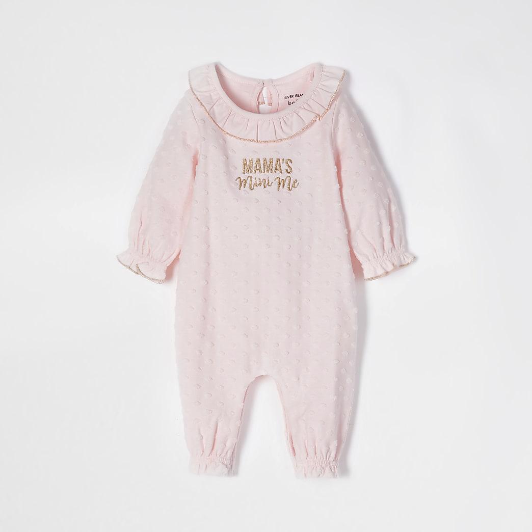 Baby pink 'Mama's Mini Me' baby grow