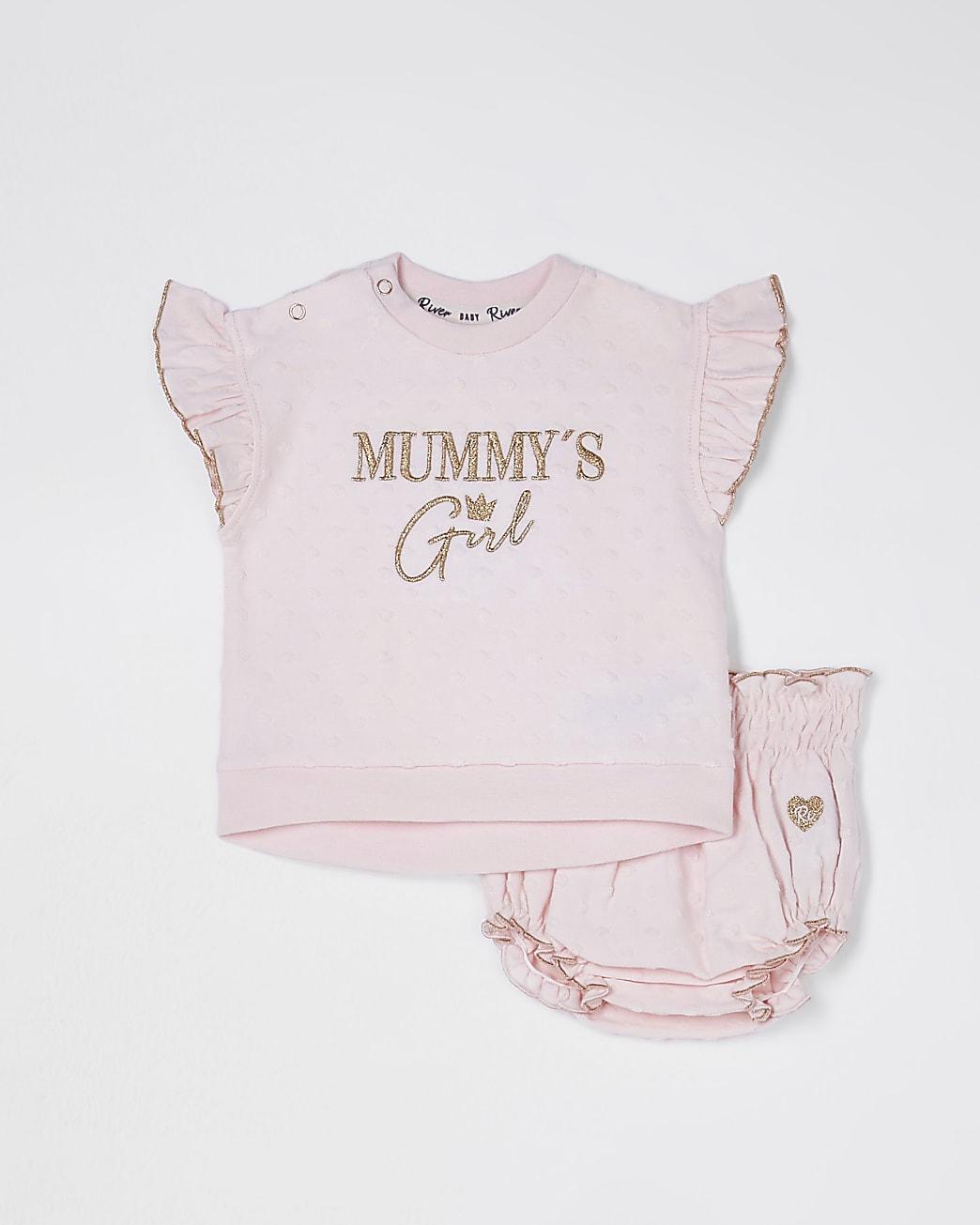 Baby pink 'Mummys girl' bloomer set