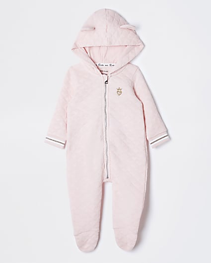 Baby pink quilted all In one