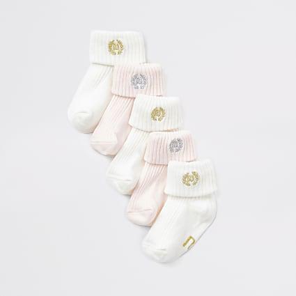 Baby pink RI socks multipack