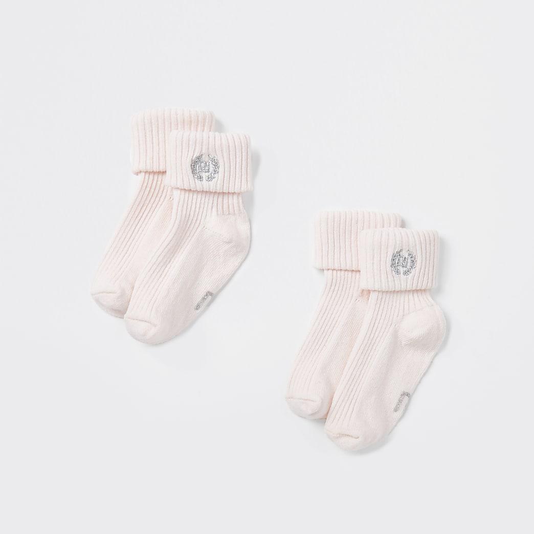 Baby pink socks 2 pack