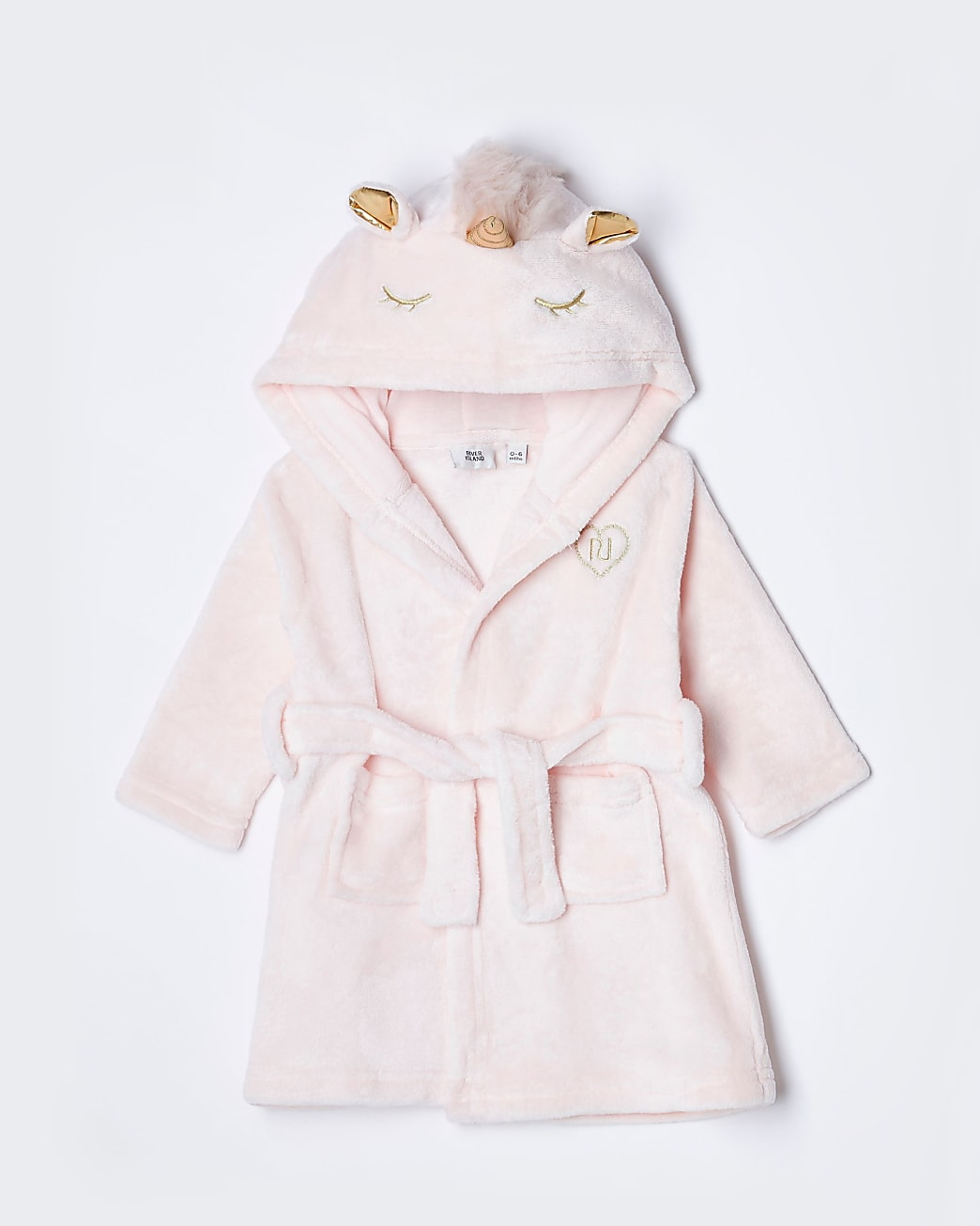 Baby pink unicorn dressing gown