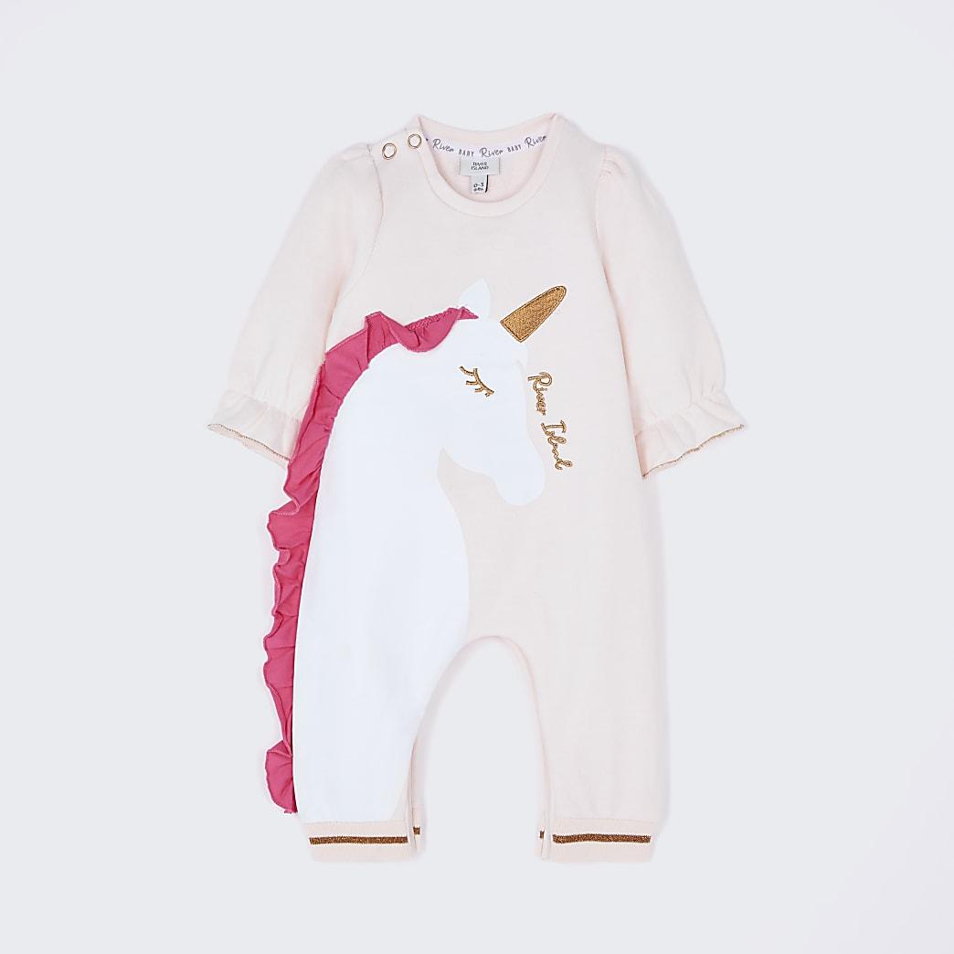 Baby pink unicorn romper