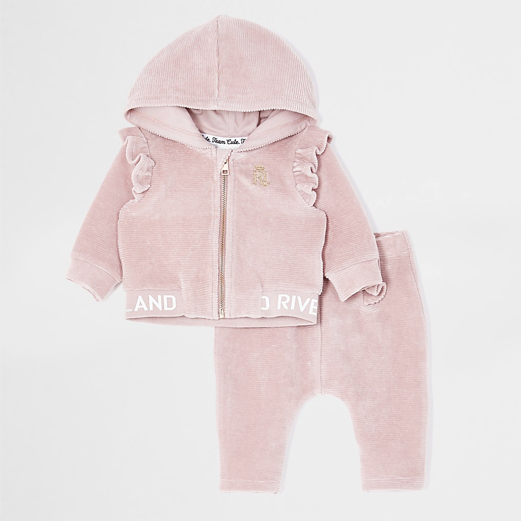 Baby pink velour ribbed bomber jacket outfit