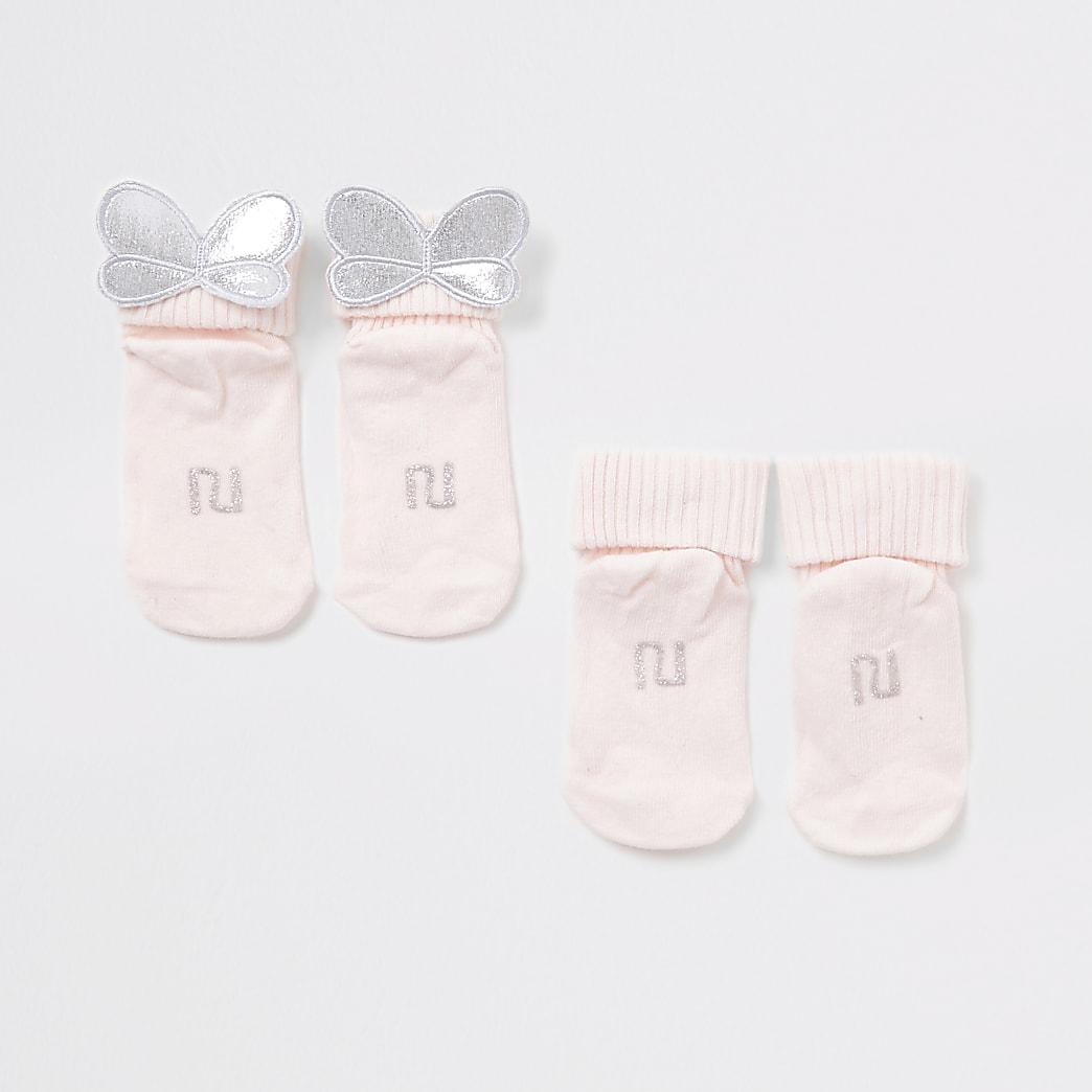 Baby pink wing socks 2 pack