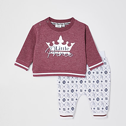 Baby red 'Little prince' sweat outfit